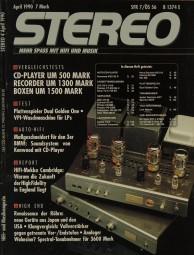 Stereo 4/1990 Zeitschrift