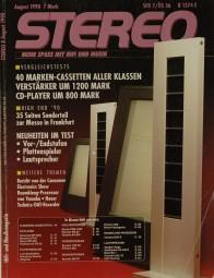 Stereo 8/1990 Zeitschrift