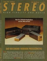 Stereo 1/1992 Zeitschrift