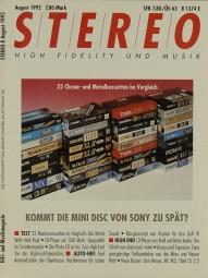Stereo 8/1992 Zeitschrift