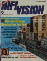 Hifi Vision 9/1985 Zeitschrift