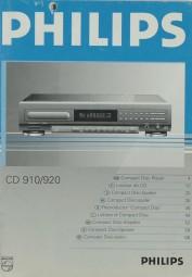 Philips CD 910 / 920 Bedienungsanleitung