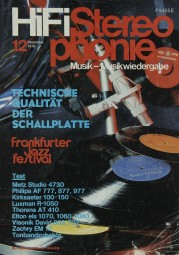Hifi Stereophonie 12/1978 Zeitschrift