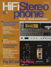 Hifi Stereophonie 6/1980 Zeitschrift