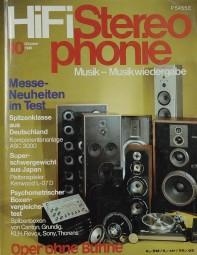 Hifi Stereophonie 10/1980 Zeitschrift
