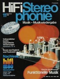 Hifi Stereophonie 11/1980 Zeitschrift