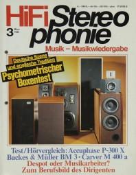 Hifi Stereophonie 3/1982 Zeitschrift