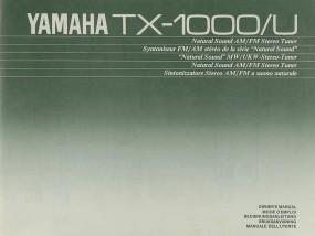 Yamaha TX-1000/U Bedienungsanleitung