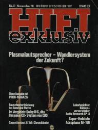 Hifi Exklusiv 11/1981 Zeitschrift