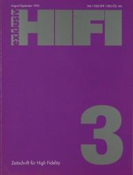 Hifi Exklusiv 3 / 1992 Zeitschrift