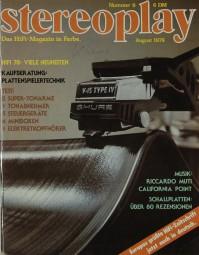 Stereoplay 8/1978 Zeitschrift