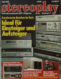 Stereoplay 7/1981 Zeitschrift