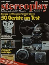 Stereoplay 2/1982 Zeitschrift