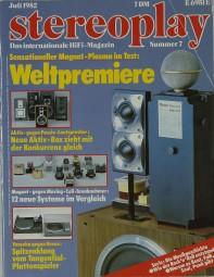 Stereoplay 7/1982 Zeitschrift
