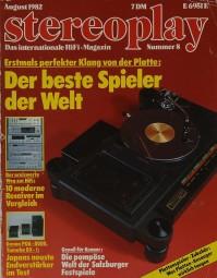 Stereoplay 8/1982 Zeitschrift