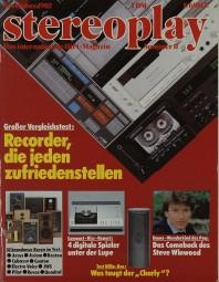 Stereoplay 11/1982 Zeitschrift
