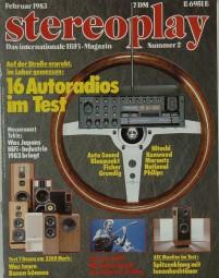 Stereoplay 2/1983 Zeitschrift
