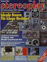 Stereoplay 8/1983 Zeitschrift