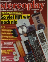 Stereoplay 9/1983 Zeitschrift