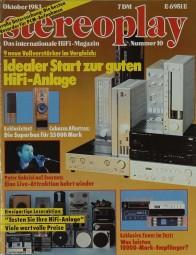 Stereoplay 10/1983 Zeitschrift