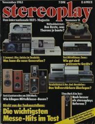 Stereoplay 11/1983 Zeitschrift