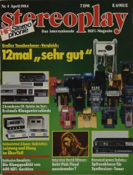 Stereoplay 4/1984 Zeitschrift