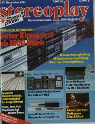 Stereoplay 12/1984 Zeitschrift