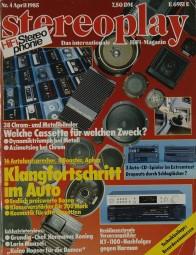 Stereoplay 4/1985 Zeitschrift