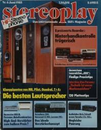 Stereoplay 6/1985 Zeitschrift