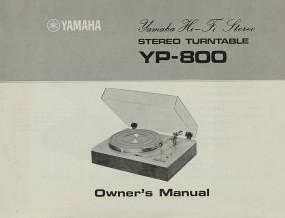 Yamaha YP-800 Bedienungsanleitung