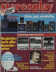 Stereoplay 11/1985 Zeitschrift