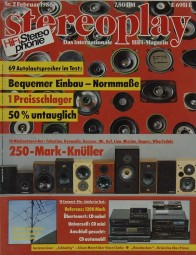 Stereoplay 2/1986 Zeitschrift
