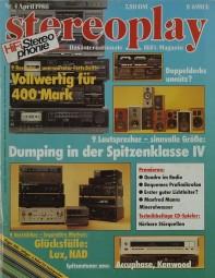 Stereoplay 4/1986 Zeitschrift