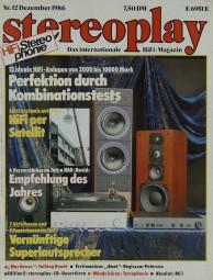Stereoplay 12/1986 Zeitschrift