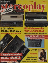 Stereoplay 3/1988 Zeitschrift