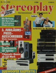 Stereoplay 7/1988 Zeitschrift