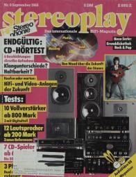 Stereoplay 9/1988 Zeitschrift