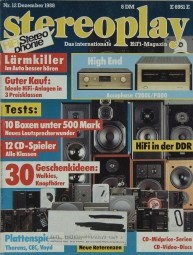 Stereoplay 12/1988 Zeitschrift