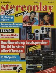 Stereoplay 4/1989 Zeitschrift