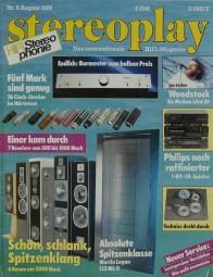 Stereoplay 8/1989 Zeitschrift