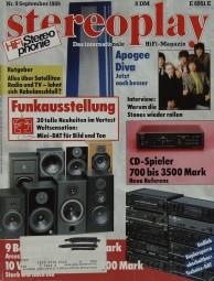 Stereoplay 9/1989 Zeitschrift