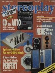 Stereoplay 3/1990 Zeitschrift