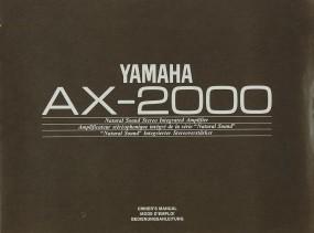 Yamaha AX-2000 Bedienungsanleitung