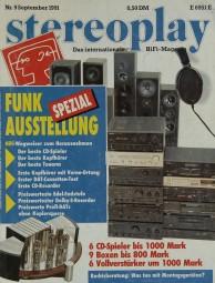 Stereoplay 9/1991 Zeitschrift