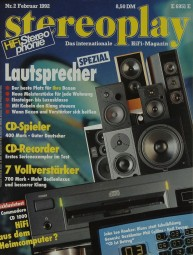Stereoplay 2/1992 Zeitschrift