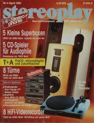Stereoplay 4/1992 Zeitschrift