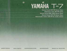 Yamaha T-7 Bedienungsanleitung