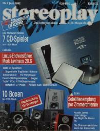 Stereoplay 6/1992 Zeitschrift