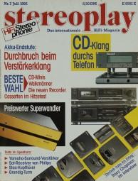 Stereoplay 7/1992 Zeitschrift