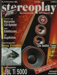 Stereoplay 12/1992 Zeitschrift